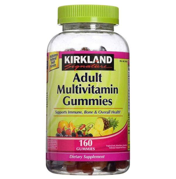 [Hàng USA] Kẹo dẻo Kirkland Adult Multiv Vitamin Gummies hương trái cây nhiệt đới 160 viên
