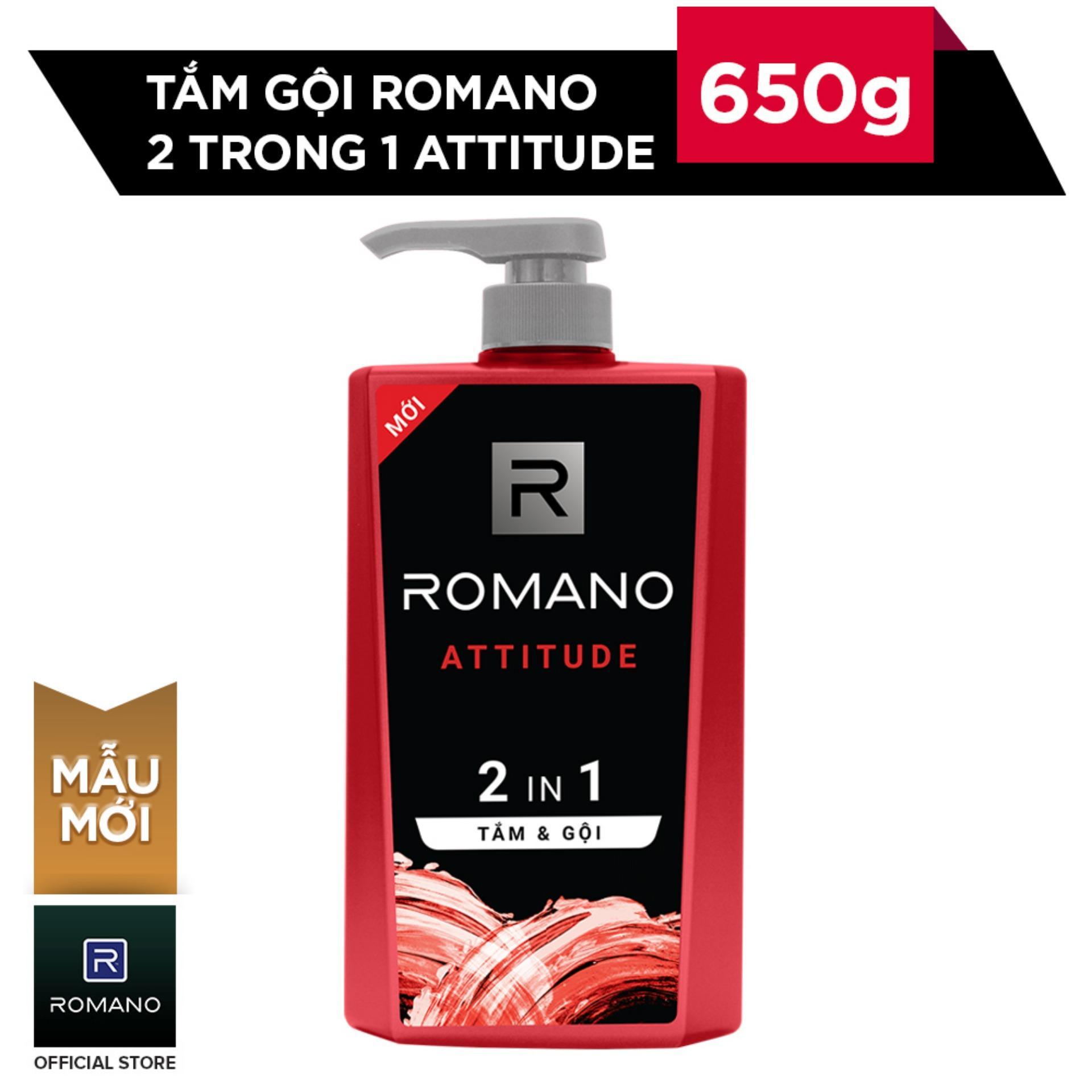 Romano Tắm gội 2 trong 1 Attitude 650g nhập khẩu