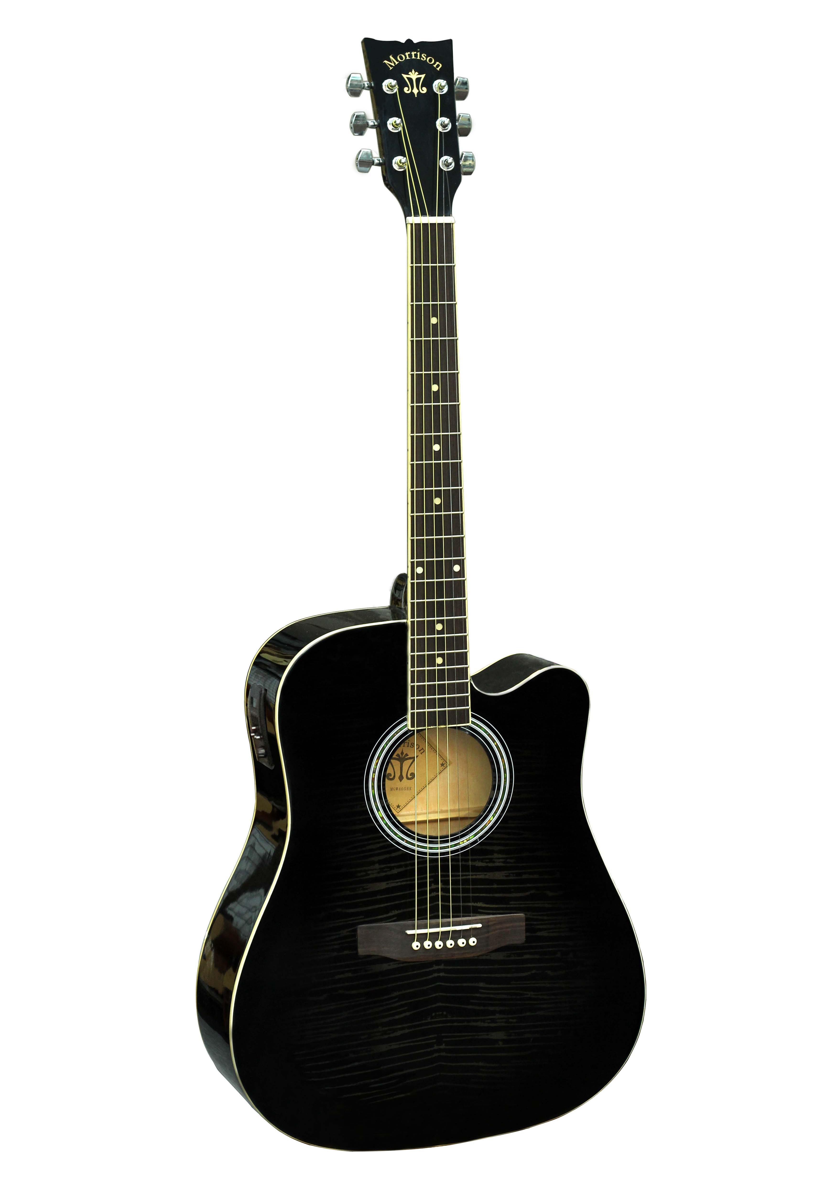 Đàn Guitar Acoustic Morrison MGW 405BK EQ Tặng bao,capo,pic,ty chỉnh cần
