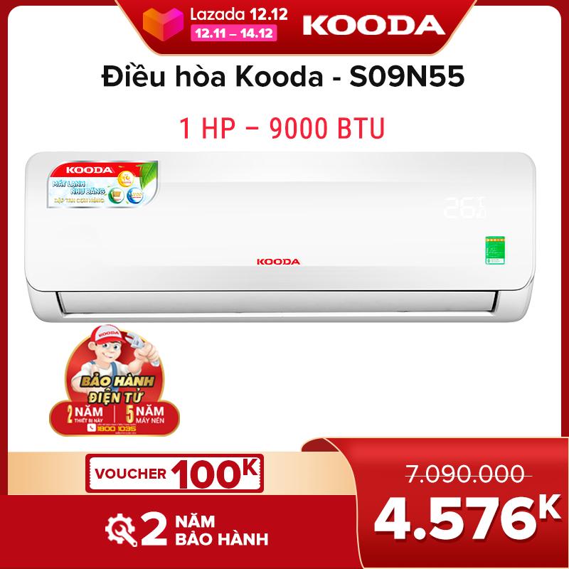 Điều hòa Kooda 1 HP – 9000 BTU - S09N55 ( Trắng )  - Hàng chính hãng S09N55