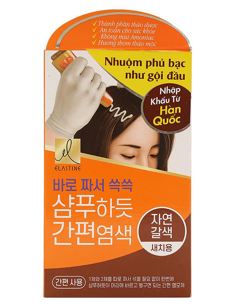 Thuốc nhuộm tóc màu nâu phủ bạc Hàn Quốc