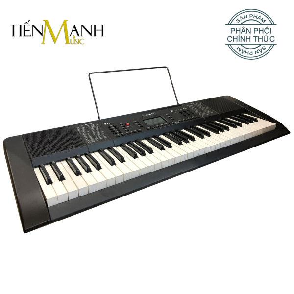 Đàn Organ Kurtzman K150 - 61 Phím Cảm ứng lực Kèm Nguồn Và Giá để Bản Nhạc - Tiến Mạnh Music phân phối Keyboard chính hãng KZM (2 Màu Đen và Trắng)