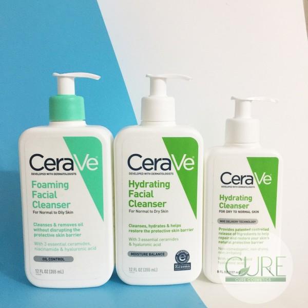 Sữa Rửa Mặt CeraVe Cleanser da dầu da khô Mỹ