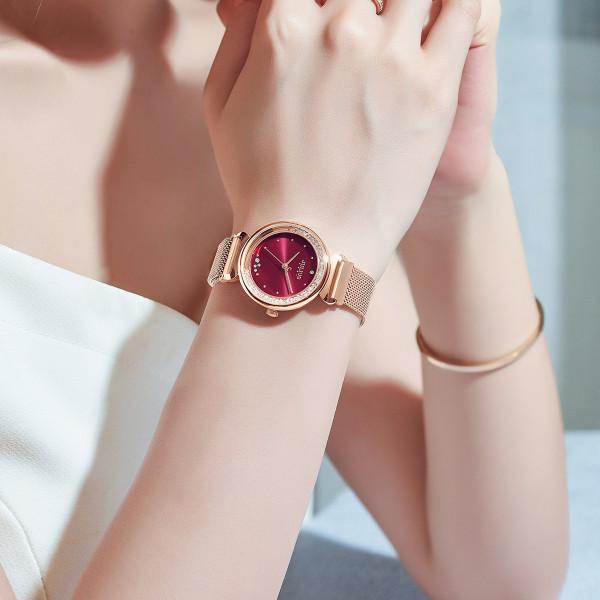 Đồng hồ nữ Hàn Quốc JULIUS JA-1224 dây nam châm đá xoay