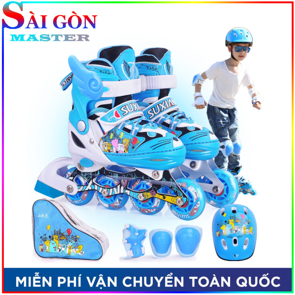 Phân phối Giày Patin Trẻ Em Phát Sáng OS Hàng Cao Cấp, Tặng Kèm Túi Đựng full option bộ bảo hộ chân tay và mũ bảo hiểm, chỉ có tại SÀI GÒN MASTER