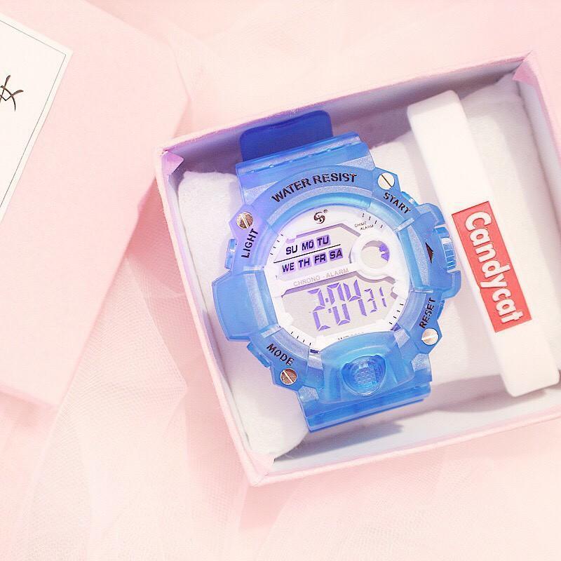 Nơi bán (Tặng kèm hộp ) Đồng hồ thời trang nam nữ Water Resist điện tử full chức năng