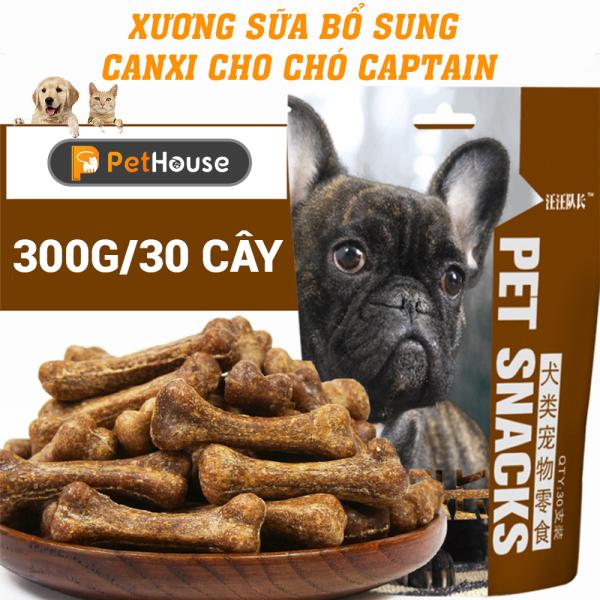 Xương sữa bổ sung Canxi cho chó Captain (Túi 300gr/30 cây)