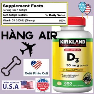 [HCM]Vitamin D3 2000IU 50mcg Kirkland 600 viên Mỹ Viên bổ sung HSD 06 2024 thumbnail