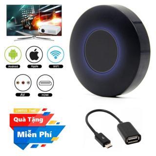 ( Quà tặng Cáp OTG cho điện thoại Android ) Thiết bị HDMI không dây Q1 Dongle hỗ trợ kết nối cổng AV - Wifi Display Dongle Q1 - HDMI Dongle Q1 hỗ trợ HDMI và AV trình chiếu từ Smartphone lên Tivi thumbnail