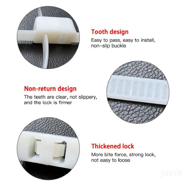 Mua 10 cái Flex Double Cuff Hạn chế dùng một lần Zip Tie Cuff Tự khóa Cuff Đen SoD3Gjc5