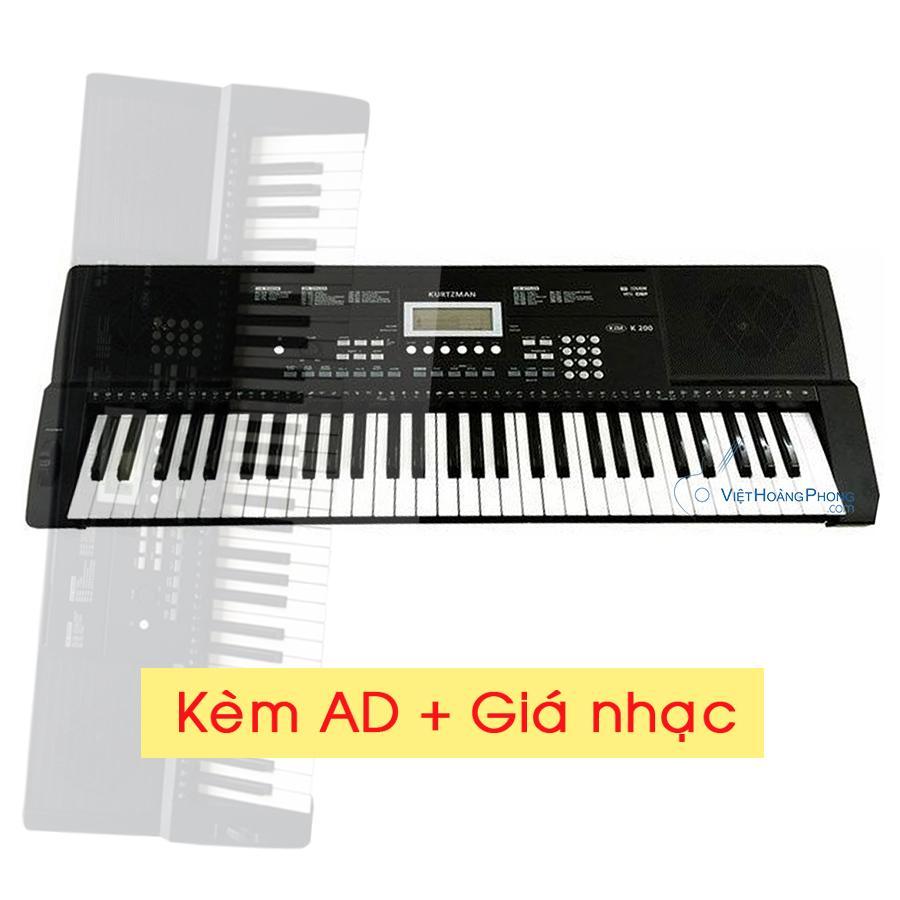 Đàn Organ Kurtzman KZM K200 kèm AD + Giá nhạc - HappyLive Shop