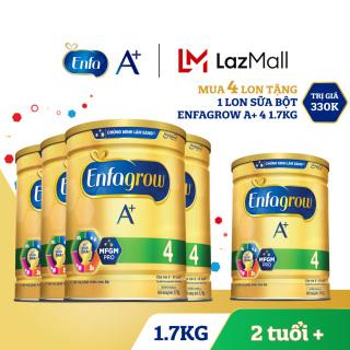 [FREESHIP] Bộ 4 lon sữa bột Enfagrow 4 cho trẻ trên 2 tuổi 1.7kg - Tặng 1 lon sữa bột Enfagrow 4 1.7kg - Cam kết hạn sử dụng còn ít nhất 10 tháng thumbnail