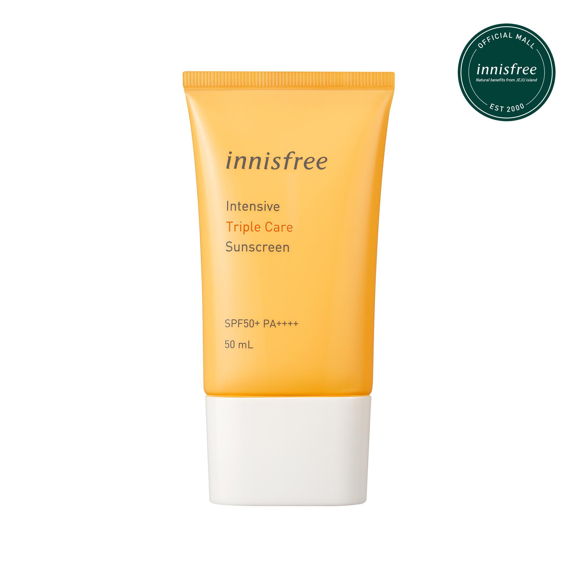Kem chống nắng lâu trôi làm sáng da innisfree Intensive Triple Care Sunscreen SPF50+ PA++++ 50ml tốt nhất