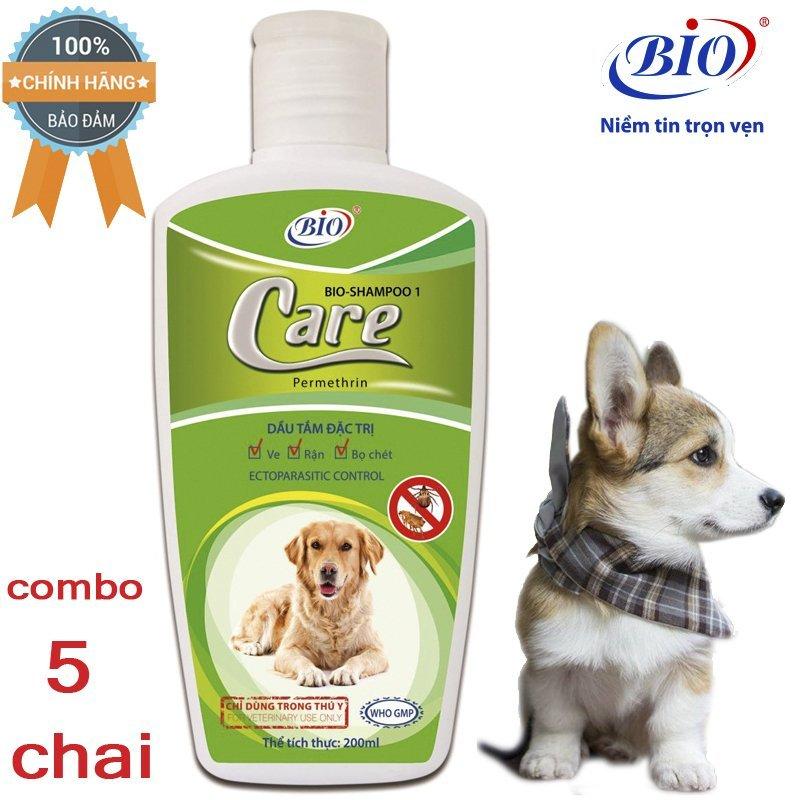 [HCM]Combo 5 Chai Sữa Tắm Tiêu Diệt Ve Rận bọ chét 200ml-79301