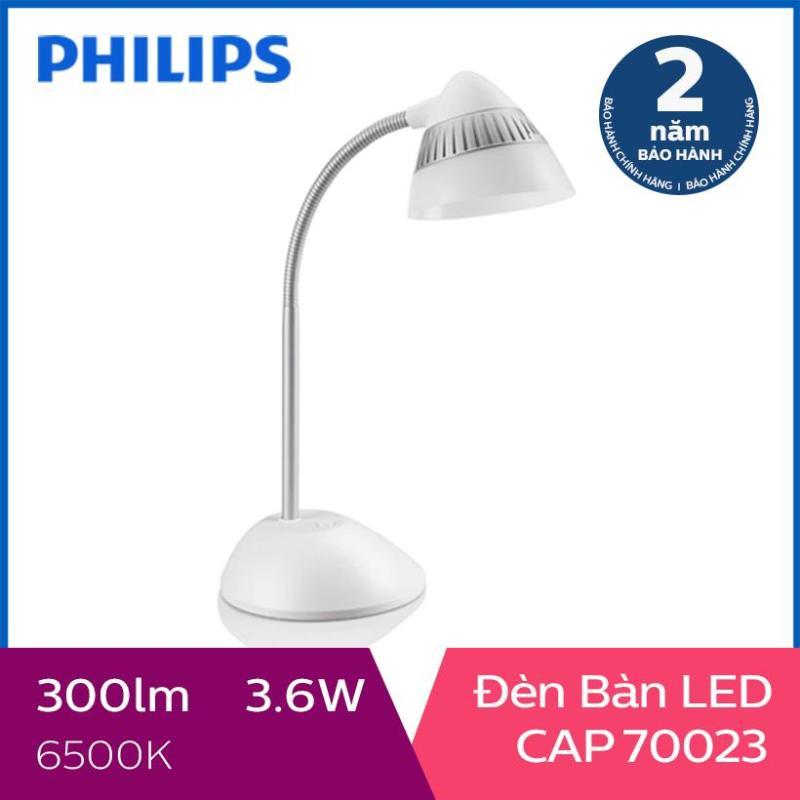 Đèn bàn Philips LED CAP 70023 4.5W (Trắng)