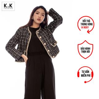 Áo Khoác Nữ Vải Tweed Tay Dài Sang Trọng K&K Fashion AK10-08 thumbnail