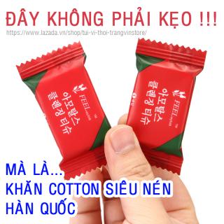 Khăn bông sợi thực vật siêu nén Hàn Quốc - Khăn lau mặt mềm mại, dẻo dai, kháng khuẩn, giá rẻ, sử dụng nhiều lần thumbnail