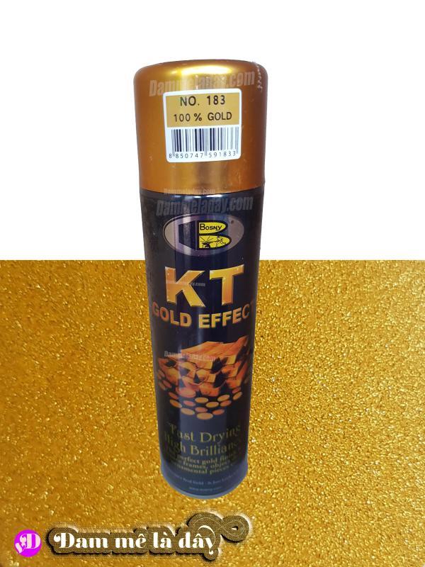 Sơn hiệu ứng mạ vàng kt gold efect bosny( màu 100% Gold( No.183))