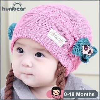 Bé Gái Mùa Đông Dễ Thương Đan Tóc Giả Mũ Trẻ Em