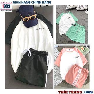 bộ thể thao nam nữ _unisex kiểu dáng hàn quốc nam nữ đều mặc được thỏa mái rất xinh kute đáng yêu ,thời trang 1989 2