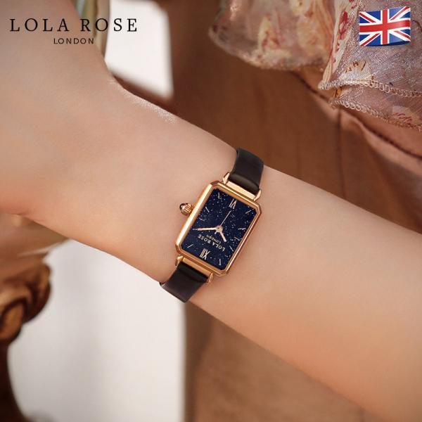 Đồng hồ nữ chống nước, đồng hồ Lolarose thiết kế từ Anh, mặt vuông đá bảo thạch lấp lánh tựa như galaxy huyền bí, dây da bò cao cấp phù hợp cô nàng cá tính bảo hành 2 năm LR2150 bán chạy