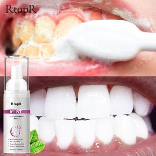RtopR Bọt kem đánh răng chuyên làm trắng và vệ sinh răng miệng loại bỏ các mảng bám vết bẩn trên răng thumbnail