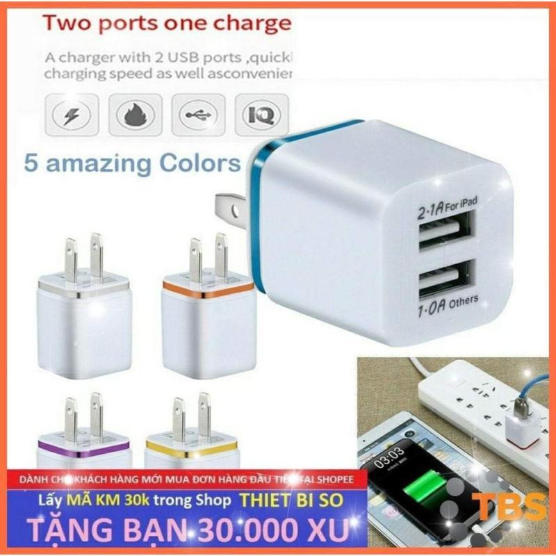Giá Cốc Sạc USB (Củ Sạc USB) 2 Cổng USB 2.1A và 1A chất lượng cao.