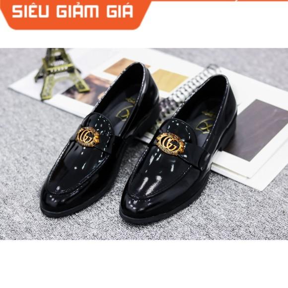 Giày Lười Nam Da Bóng - Da Pu , Đế Cao Su Đúc Cao 3cm - Mã G019 giá rẻ