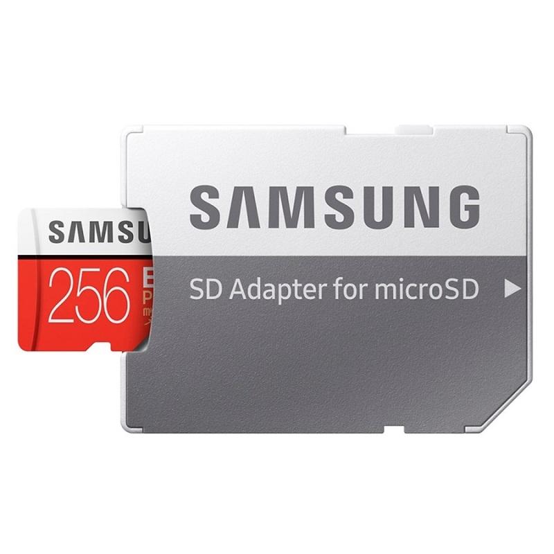 [Giá Rẻ Nhất]  Thẻ nhớ Thẻ nhớ MicroSDXC Samsung Plus 256GB U3 4K R100MB/s W90 MB/s - Box Hoa New 2020 (Đỏ) + Kèm Adapter - Hàng Chính Hãng