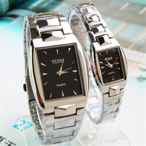Nơi bán (Tặng kèm hộp và pin) Đồng hồ thời trang nam nữ YiShi Mẫu mới mặt chữ nhật sang trọng