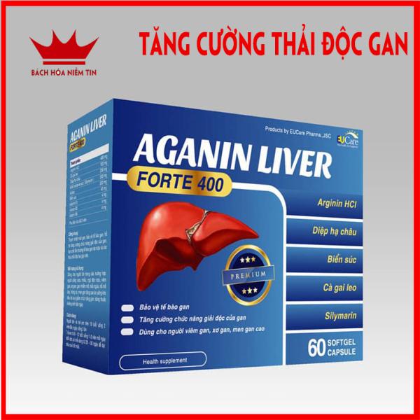 Viên uống bổ gan AGANIN LIVER - Hộp 60 viên tăng cường chức năng gan, giải độc gan, thanh nhiệt cơ thể nhập khẩu