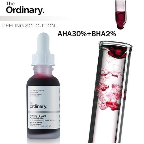 The Ordinary AHA 30% + BHA 2% Peeling Solution 30ml Dung dịch lột AHA 30% + BHA 2% nguyên chất, 30ml, mặt nạ tẩy tế bào chết 10 phút, Serum dưỡng da, xóa sẹo mụn, làm trắng da, chăm sóc da