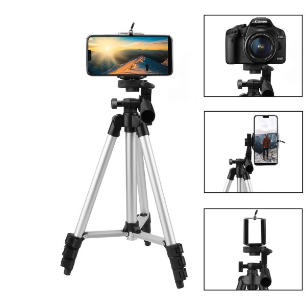 Bộ gậy chụp ảnh 3 chân Tripod TF-3110A - Bộ giá đỡ điện thoại máy ảnh 3 chân tripod - GIA DỤNG 3 MIỀN