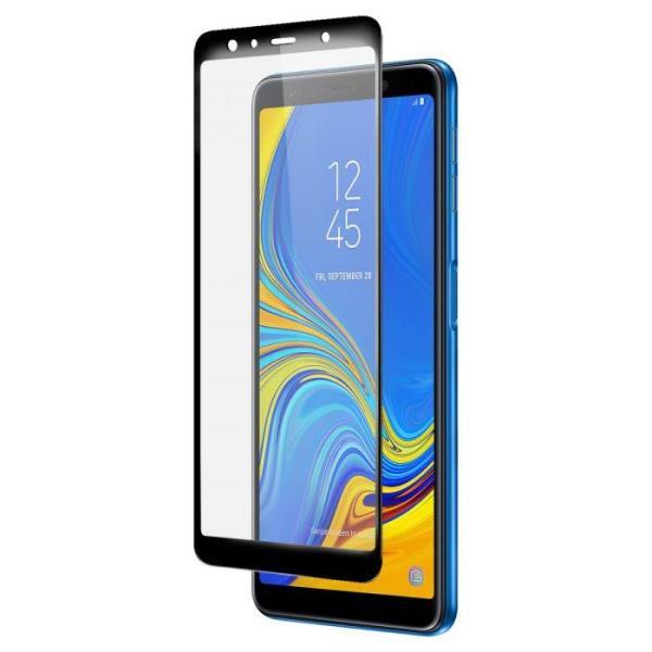 Kính cường lực Samsung A7 2018 Đen (Full Màn, Full Keo)