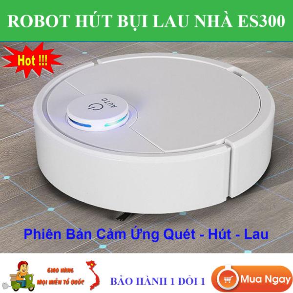 Robot Hút Bụi Cao Cấp  ES300, Robot Hút Bụi Tự Động Thông Minh, Robot Hút Bụi Lau Nhà. Tự Động Phát Hiện Khi Gặp Các Vật Cản , Dễ Dàng Làm Sạch Các Vị Trí Khó Như Gầm Giường, Tủ, Robot Vận Hành Êm Ái Không Có Tiếng Ồn.