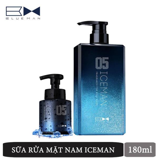 Combo sữa tắm & rửa mặt Blueman hương Iceman bạc hà 500ml+400ml nhập khẩu