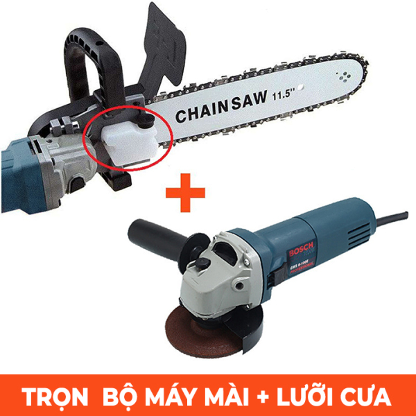 Lưỡi Cưa xích gắn máy mài BOSH 100% lõi đồng - Cưa gỗ - tra dầu tự động - Bảo hành 24 tháng ,  luoi cua xich gan may mai cam tay