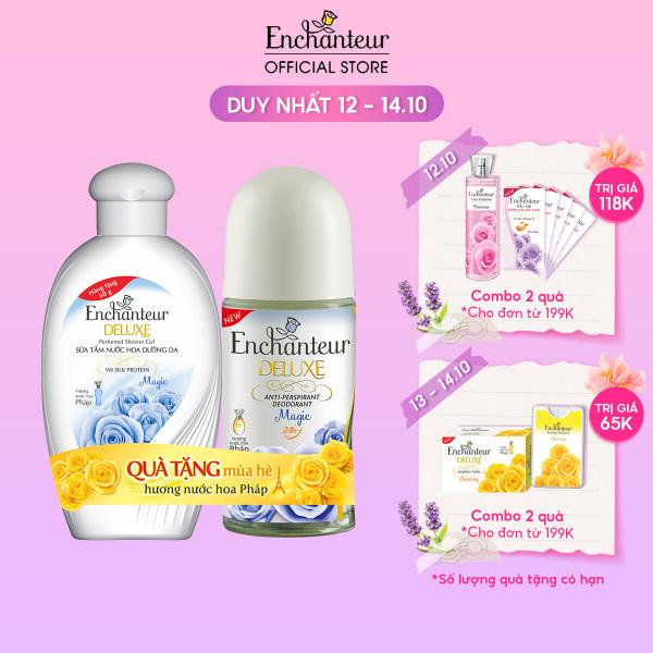 [Tặng Sữa tắm Magic 60g] Lăn khử mùi nước hoa Enchanteur Magic 50ml - SMP 2021 cao cấp