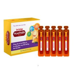 Siro Ăn Ngon Hoa Thiên Kids - Hỗ trợ kích thích tiêu hóa và ăn ngon miệng (Hộp 4 vỉ x 5 ống 10ml) thumbnail