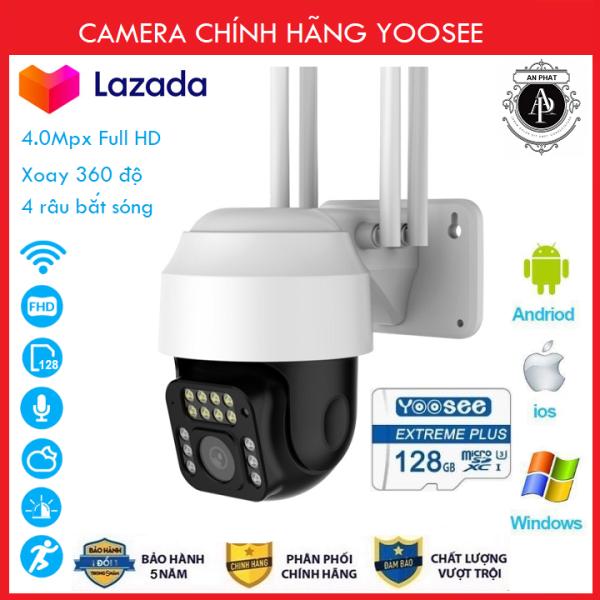 Combo Thẻ nhớ 128GB Camera Yoosee 4.0MPX - Camera wifi trong nhà , Camera ngoài trời ptz xoay 360 độ 14 led mới nhất 2020