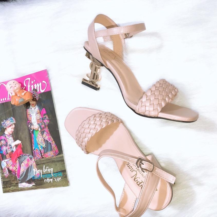 [ẢNH THẬT] Giày cao gót sandal 7 phân quay sam giá rẻ