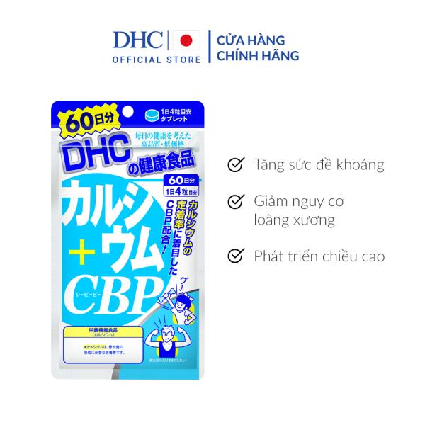 Viên uống Bổ sung Canxi DHC Calcium + CBP Gói 60 Ngày giá rẻ
