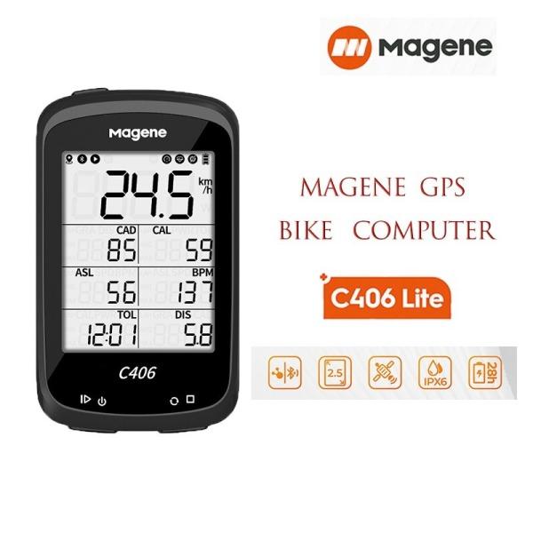 Đồng Hồ Xe Đạp Magene C406 Lite ( Phiên Bản Giới Hạn) Định Vị GPS Không Dây Chống Thấm Nước Cập Nhập Dữ Liệu Hành Trình