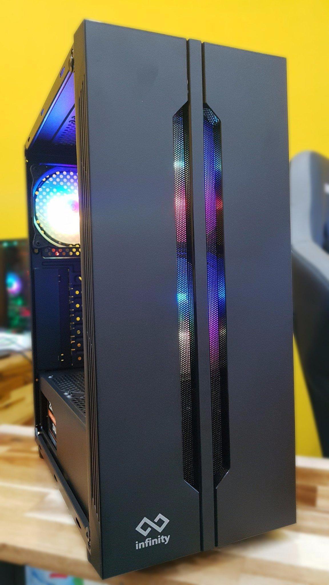 Giá CASE máy tính ,Case máy tính ,Vỏ máy tính gaming (case game) Tặng kèm 3 quạt tản nhiệt LED RGB 4 pin