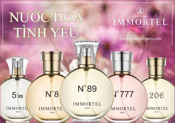 Nước Hoa IMMORTEL PARIS  Eau De Parfum Dung Tích 60ml