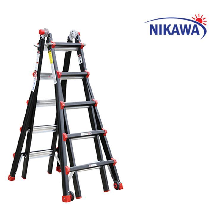 Thang nhôm gấp trượt Nikawa Nhật Bản NKB45 - 5,5m Tải trọng 250kg