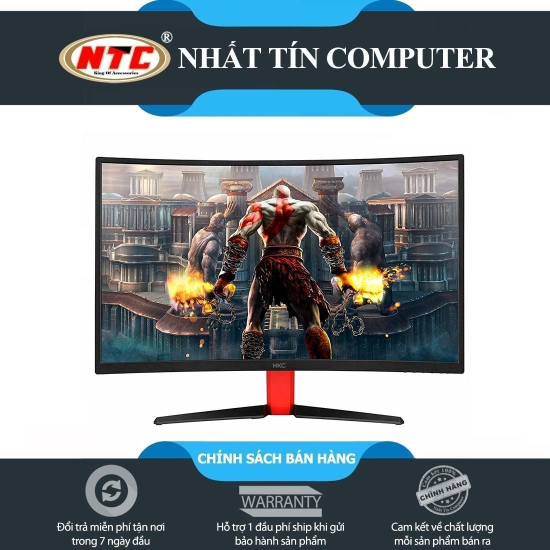 Màn hình máy tính gaming HKC NB27C2 27 Panel VA 144Hz màn LED cong - kết nối DVI/HDMI1.4/DP1.2 (Đen)