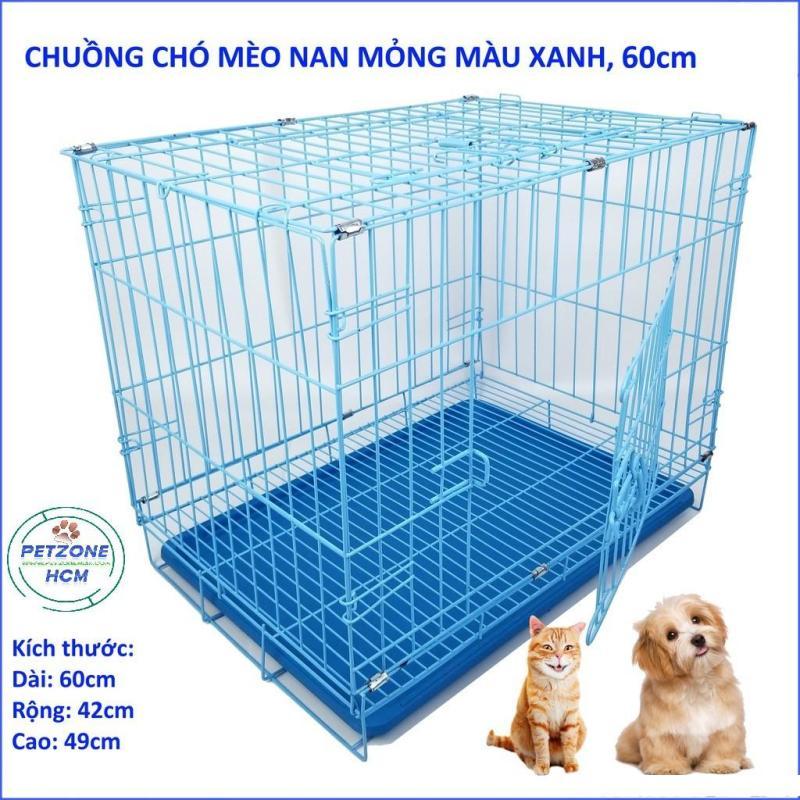 PetZoneHCM - Lồng chuồng dành chó mèo 5kg - 15kg - Size M - Size M,Xanh Biển