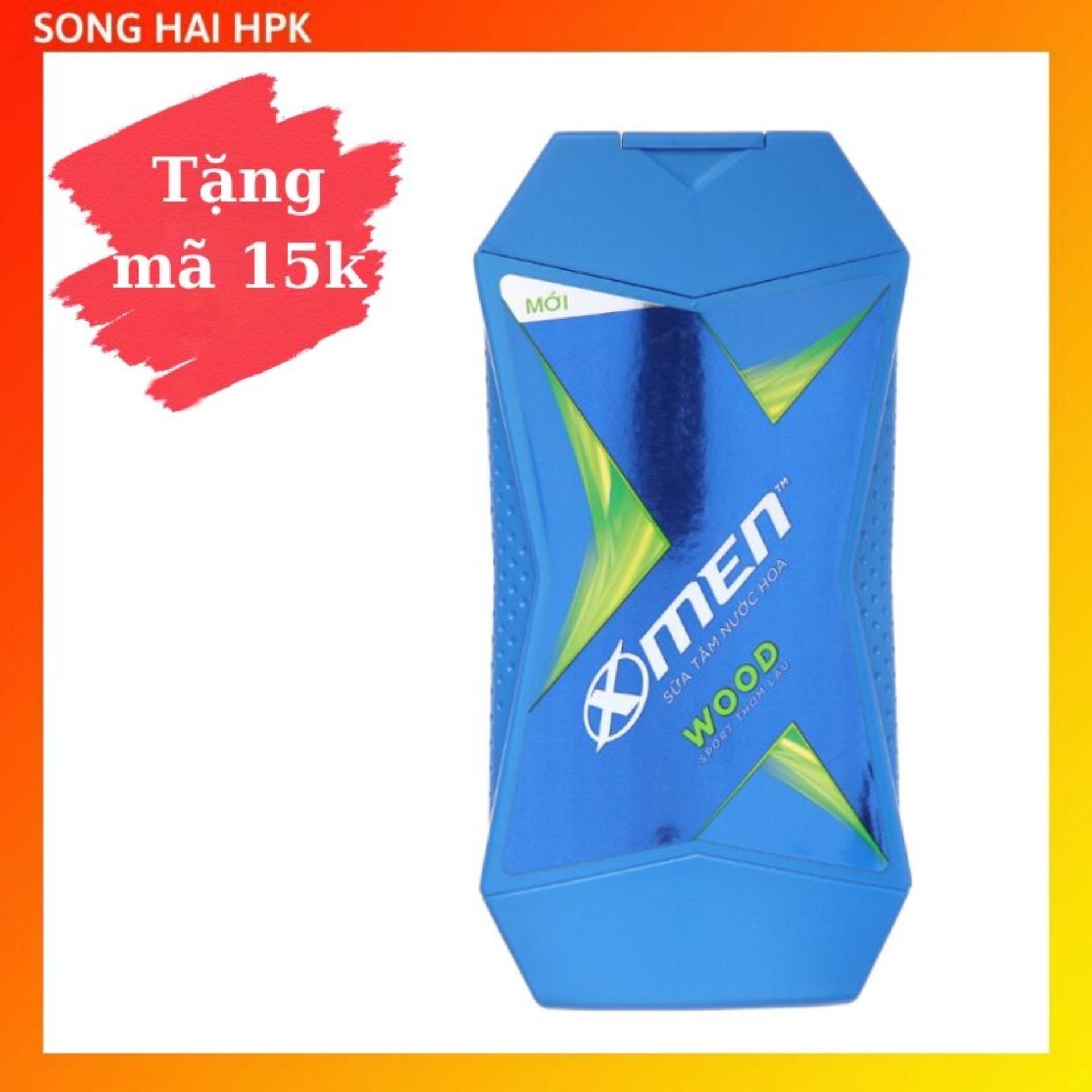 Sữa tắm nước hoa X-Men Wood Sport - Mùi hương gỗ thơm lâu 380g Songhaihpk nhập khẩu