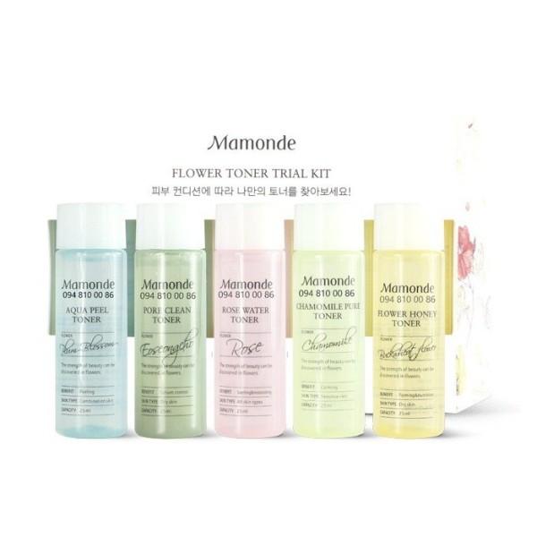 Nước hoa hồng Mamonde Toner Trial Kit